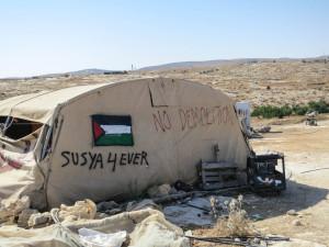 Susiya, eines der bedrohten Dörfer in den südlichen Hügeln von Hebron