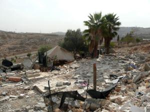 Zerstörtes Haus in der C-Zone